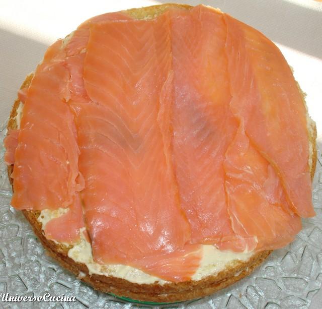 Ancora uno strato di salmone