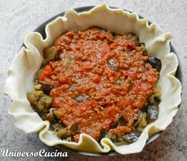Nappare le melanzane con il ragù di carne
