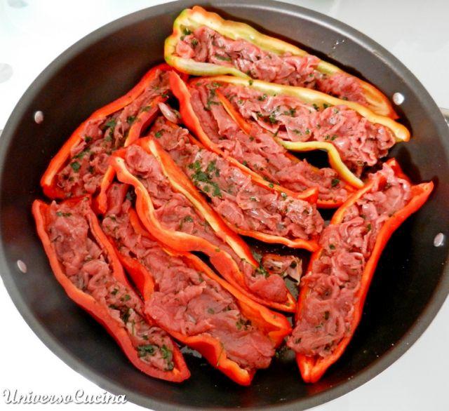 Farcire con la carne marinata